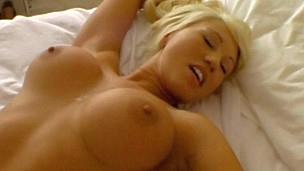 Super warm blonde maid gets fucked