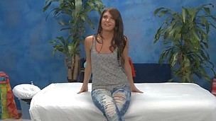 Sexy eighteen year old Cassandra gives MORE than just a massage.