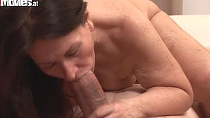 This horny aged mamma gets bitchy two fellows