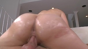 Brave blonde with big backdoor is having deep tart's from behind