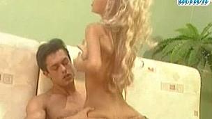 Watch Nikki Blond get her cum-hole stuffed.