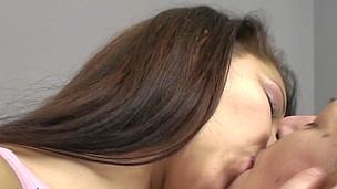 Old and youthful lesbian babes Frederica and Rashinda go nasty
