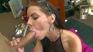 Amazing slut with big tatas gets fucked on the floor indoors